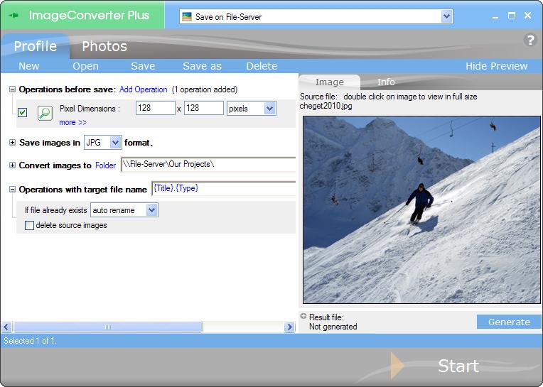 حصرى برنامج ImageConverter Plus 8.0.30 Build 110915 لتحرير وتحويل الصور كامل مع الكيجن Ski_screen